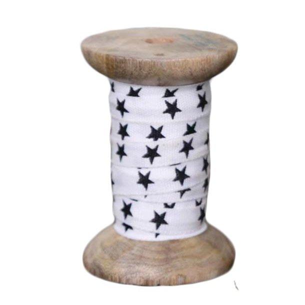 Gavebånd m/stjerner på træspole - 10 meter