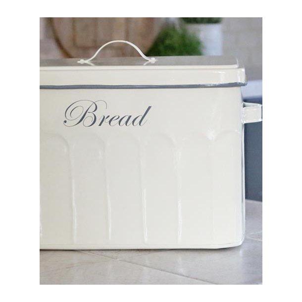 Brødboks m/låg - creme -