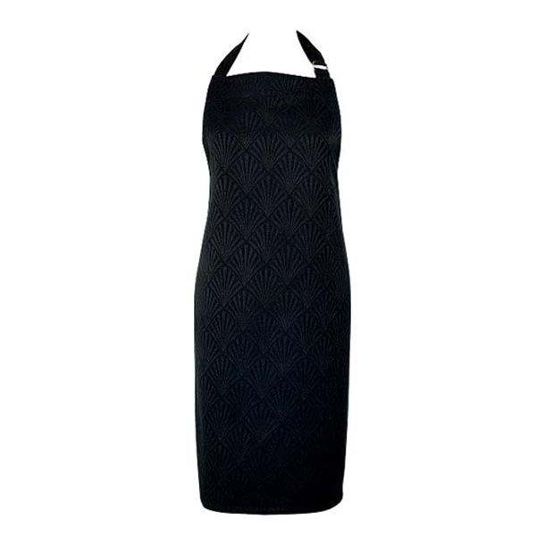 Forklæde - jacquard Celine black - one size