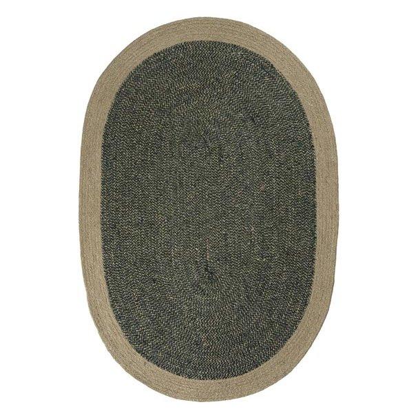 Dørmåtte - sort m/sandfarvet kant - 60*90 cm