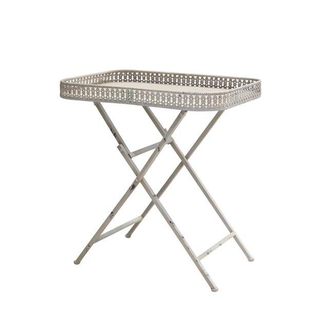 Bakkebord/klapbord - antik creme - 39*54*h59 cm