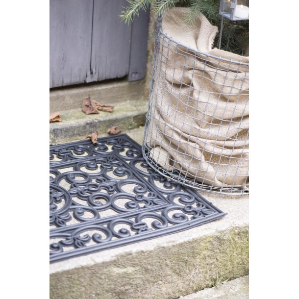 Dørmåtte - filigran - sort gummi - 45*120 cm